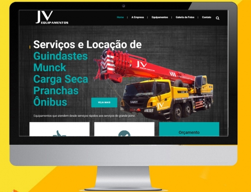 JV Equipamentos – Web Site
